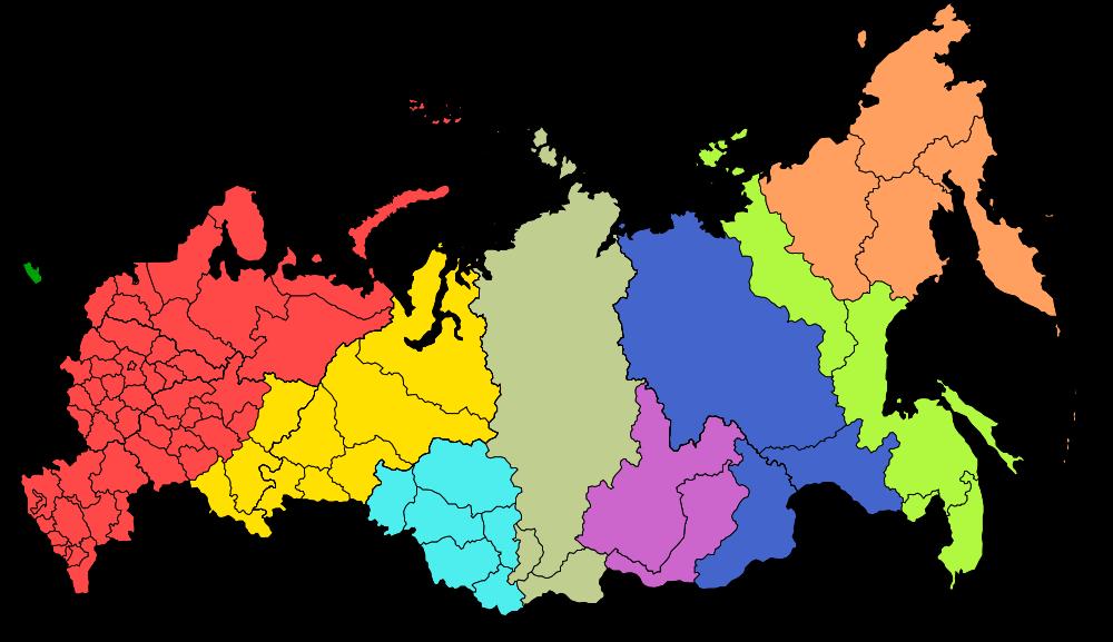 Карта новых часовых поясов россии 2